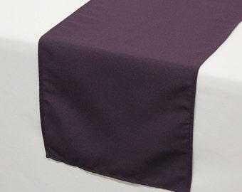 YCC Linen - Eggplant Polyester Table Runner | Wedding Table Runner