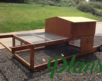 Chicken Tractor PLANS PDF Download, Sustainable living small farm homestead chicken raising mobile coop