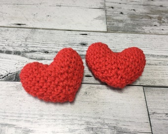 Crochet Hearts - Stuffed Heart - Valentine's Day Heart - Amigurumi Heart - Plush Heart