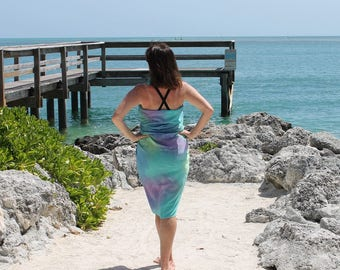 Soul Mate ... hand painted silk sarong