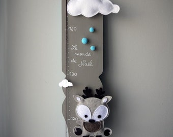 """Fathom wooden for baby & child """"Reindeer in the sky"""", customization for Naël"""