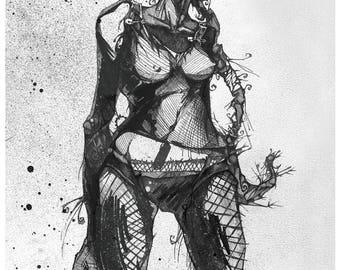 Punk Girl Illustration Art Print