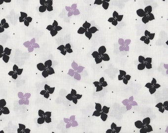 Floral Fabric, Purple Fabric, Twilight by Quilting Treasures, Purple Floral, Floral, White Floral, 00624
