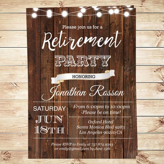 It is a graphic of Tactueux Free Printable Retirement Party Invitations