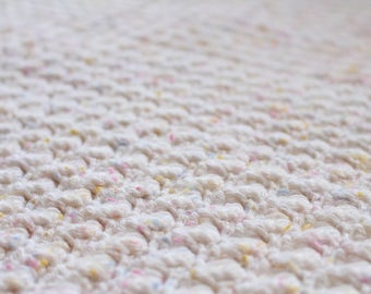 Lovely white, pink and pastel, full sized blanket