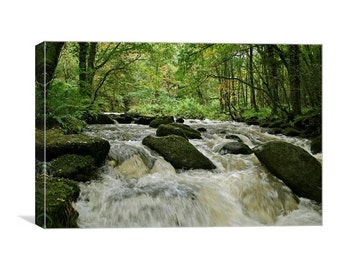Waterfall on the East Lyn canvas print