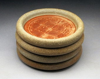 4 Coaster Set-  Your choice of color