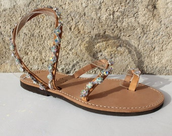 White Pearls Sandals, Leather Sandals, Wedding Shoes, Wedding Sandals, Sandales mariage, bridal sandals,braut sandalen