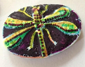 clay DRAGONFLY  OOAK    pendent bail Handmade   jewelry craft supplies  handmade