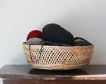Large Woven Basket ~ Vintage Woven Wall Basket ~ Large Basket Storage