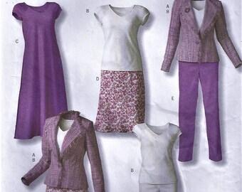 Butterick B4468 Lifestyle Wardrobe Pattern Misses Sz 16-22 Jacket, Top, Pants, and Dress Uncut Factory Folded Uncut Factory Folded
