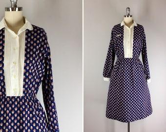 Vintage 1970s Dress / 70s Lanz Dress / Floral Print Dress