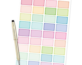 Planner Stickers - Half Boxes - Fits Erin Condren and Happy Planner
