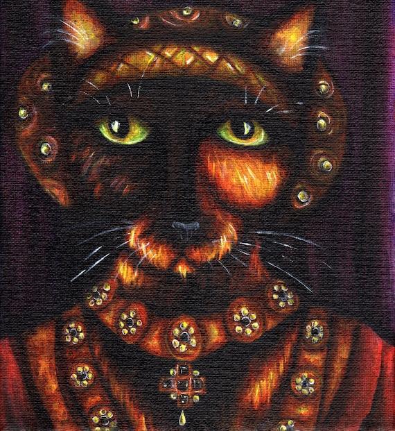Tortoiseshell Cat Art, Anne of Cleves, Henry VIII, Tudor Queen 8x10 Art Print
