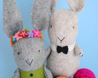 Love Somebunny: felt toy rabbit,bunny sewing pdf, softie pdf pattern,bunny toy pdf, bunny pattern, bunny toy pdf,stuffed toy pdf, felt bunny