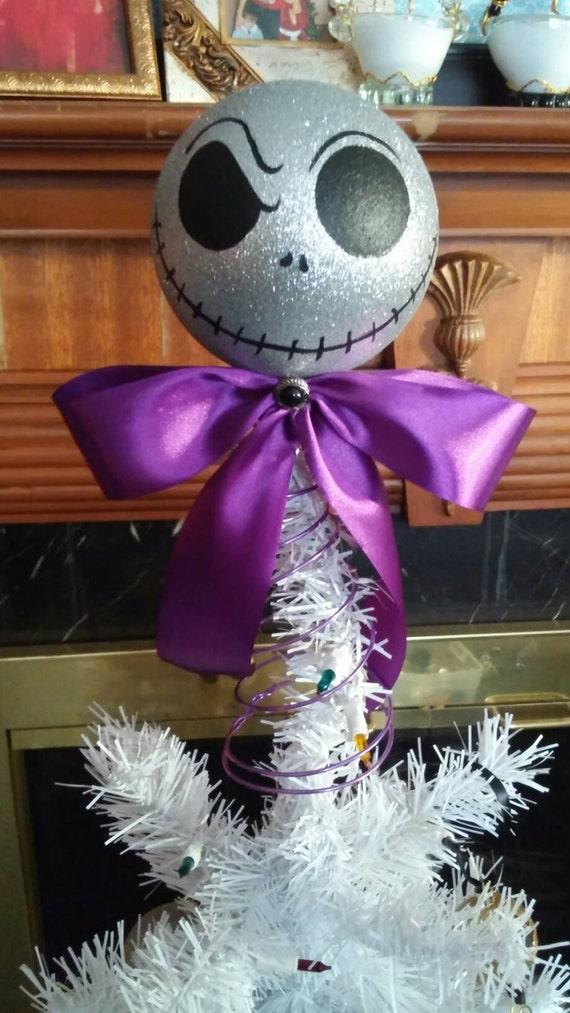 Nightmare before Christmas tree topper Jack white head tree