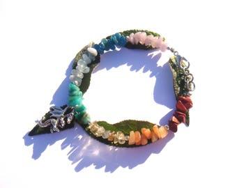 Animal Totem: Dragon and the 7 chakras. Bracelet 18 cm around wrist