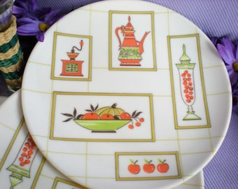 Melmac Dinnerware, Melamine Dishes, Snack Plates, Lunch Plates, Dining and Serving, Kitchen, Vintage Dishes