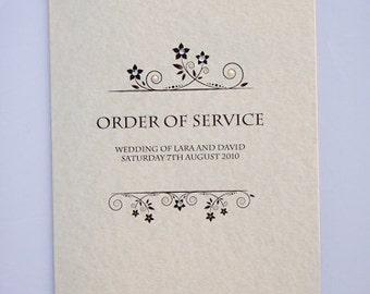 Vintage Diamond & Pearl Order of Service