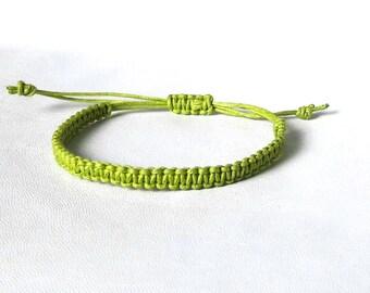 Mens Bracelet green Macrame Bracelet man string bracelet Friendship bracelets Cord bracelet Surfer Bracelet Beach bracelet Hippie bracelet