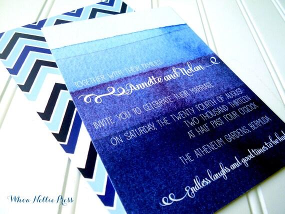 Ombre Wedding Invitation: Ombre/Watercolor Wedding Invitations