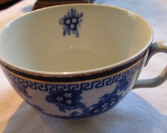 Antique Staffordshire England Tea cup.  Blue and white.