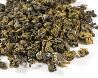 Green Curls Chinese Green Tea. All Natural Loose Leaf Gourmet Tea.