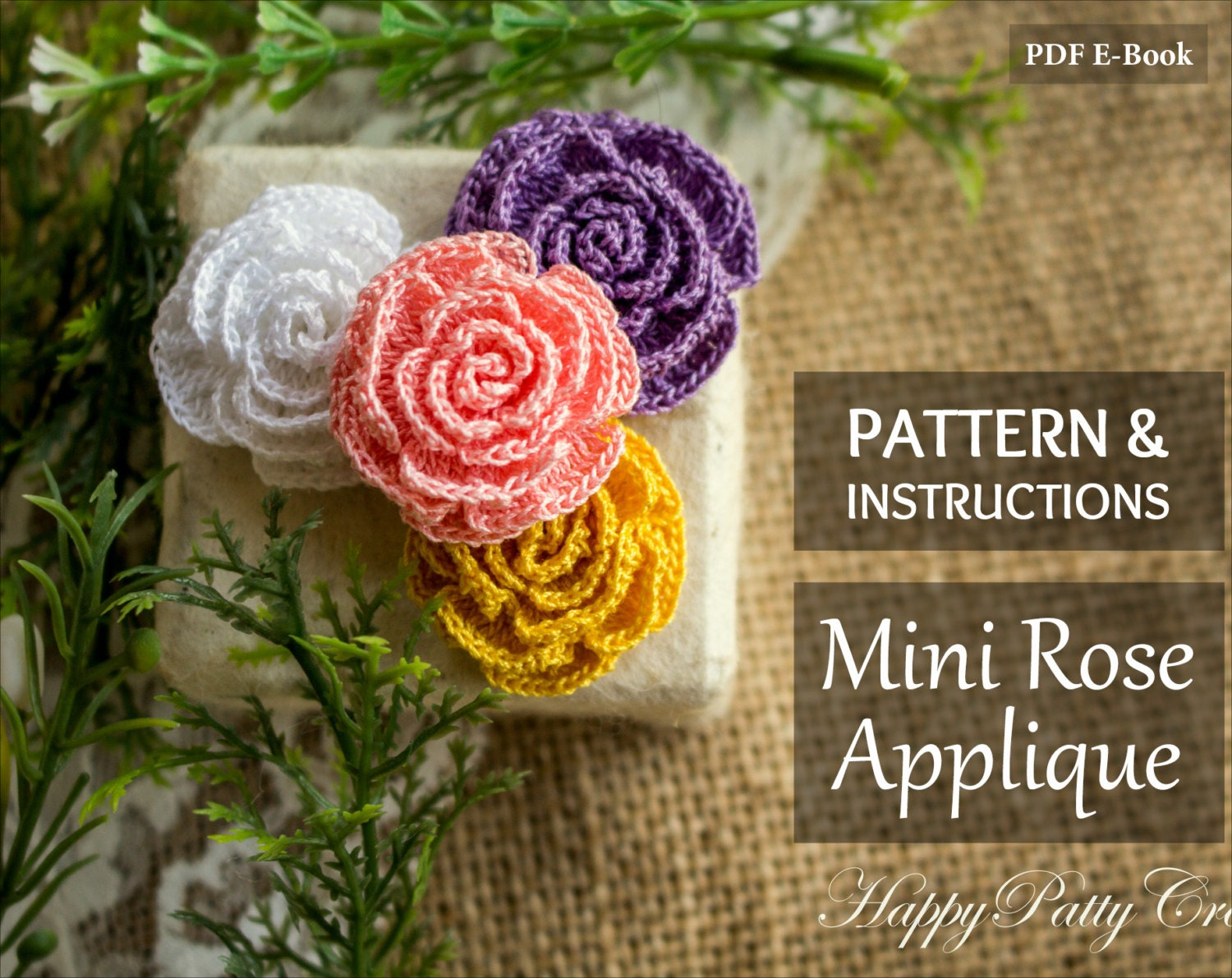 Mini Crochet Rose Pattern and Instructions Mini Rose