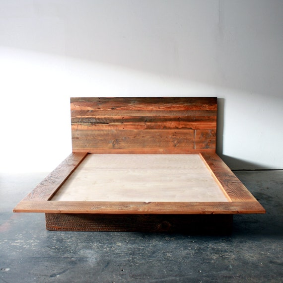 Reclaimed Wood Bed Frames Images
