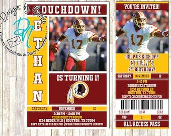 Washington Football Invitation