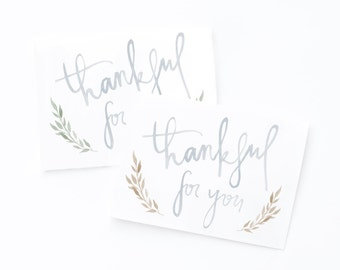 Thankful For You Card - Blue