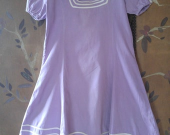 50s lilac girls sailor style dress