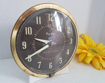 Vintage Alarm Clock Big Ben Westclox Made in Canada