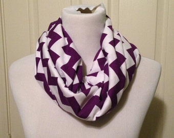 Purple chevron scarf- available in infinity and regular!