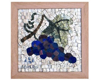 Mosaic kit diy poppies stained glass mosaic tiles mosaics mosaic wall art kit fall 9x9 diy mosaics tiles craft adults do solutioingenieria Choice Image