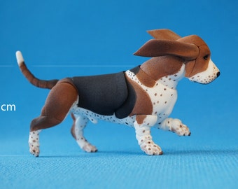 In stock. BJD dog: Basset Hound 5 cm at the withers.