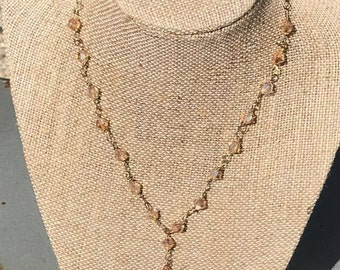 Tequila Sunrise lariat necklace