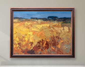 Landscape Painting Oil Painting Abstract Country Wall Art Field Painting Landscape Art Country Art Field Wall Art Original Painting Canvas