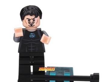 Tony Stark Custom Marvel Super Hero Mini Figure fits LEGO Ironman 3