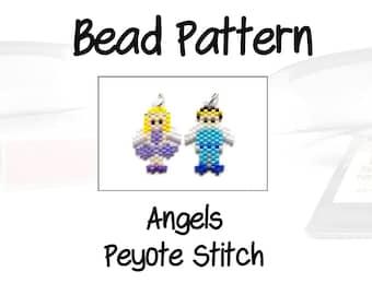Beaded Angels Peyote / Brick Stitch Patterns, Celestial Charms | DIGITAL DOWNLOAD