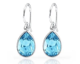 3.00 CTTW Pale Topaz Drop Earrings in Sterling Silver (0.9 Grams)