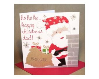 Christmas Dad Card  (jewelled)