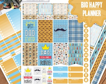 Father's Day BIG Happy Planner, Jun Planner Stickers, Weekly Planner Kit, Father's Day Planner Stickers, Jun Weekly Kit, Big HP. Planner kit