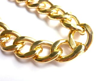 Gold metal chain link very big thick RIV048OR meter