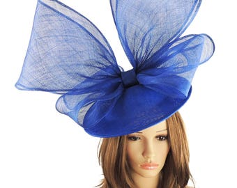 Royal Blue Golden Plover Fascinator Hat for Kentucky Derby, Weddings on a Headband (40 colours available)