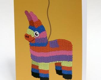 Piñata Birthday Card, Birthday Pun, Funny Birthday Card