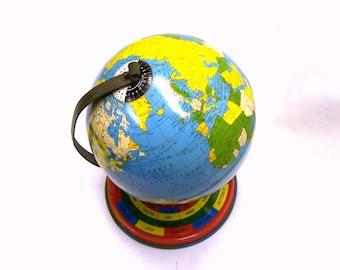 1948 Ohio Art Pedestal World Globe