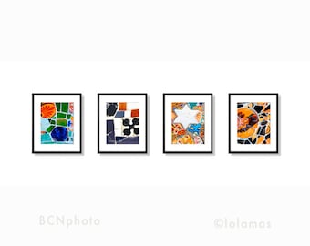 Art prints set, Gallery wall art prints, home decor gifts, Colorful wall art, Travel photography, Gaudi Barcelona, wall art Set,