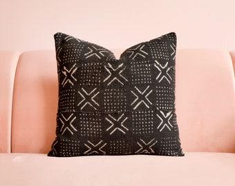 Africa Mudcloth Pillow, Mudcloth Pillow Cover, African Pillow, Throw Pillow, Lumbar Pillow, Mud Cloth Pillow, Africa Pillow, Boho Pillow