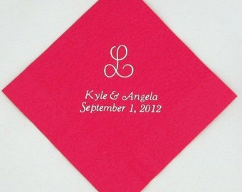 300 Personalized monogram luncheon napkins wedding napkins custom printed napkins personalized napkins bridal shower baby shower napkins